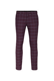 Heren skinny fit pantalon Winslow_Heren skinny fit pantalon Winslow, Bordeauxrood