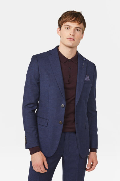 Heren slim fit blazer Merrill Marineblauw