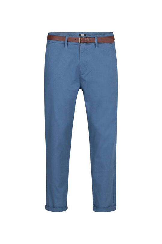 Heren loose tapered chino Donkerblauw