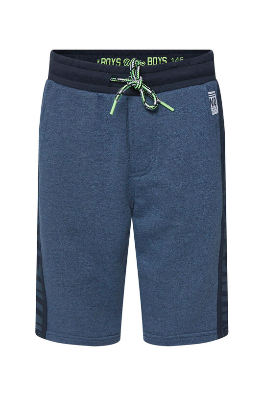 Jongens sweat short met tekstdetail Donkerblauw
