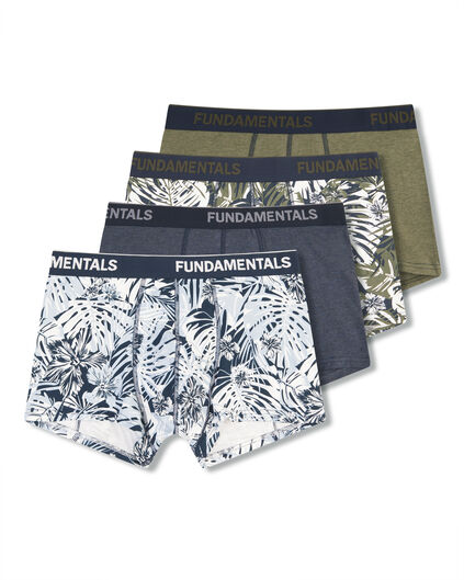 HEREN BOXERS, 4-PACK Multikleur
