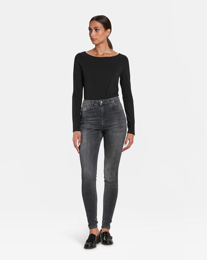 DAMES HIGH RISE SUPER SKINNY Grijs