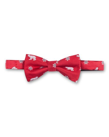 HEREN BEAR BOWTIE Bordeauxrood