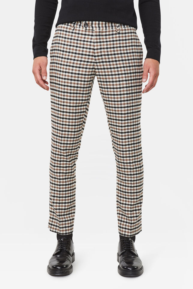 Heren slim fit chino All-over print