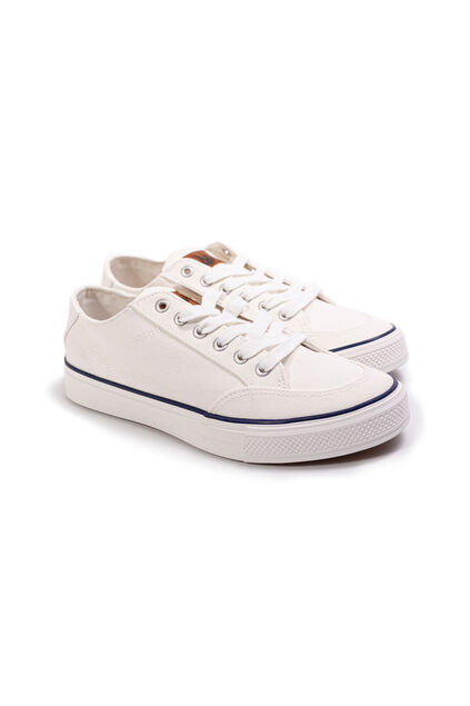 Heren sneakers van canvas Wit