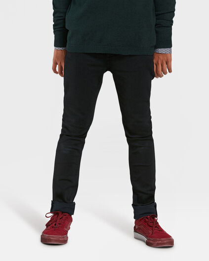 JONGENS ULTRA SUPER SKINNY JOG DENIM Zwart