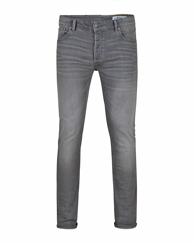 HEREN SKINNY FIT TAPERED SUPER STRETCH JEANS Grijs
