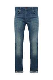 Heren regular fit super stretch jeans_Heren regular fit super stretch jeans, Grijsblauw