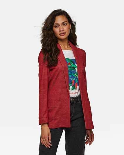 DAMES REGULAR FIT MELANGE BLAZER Rood
