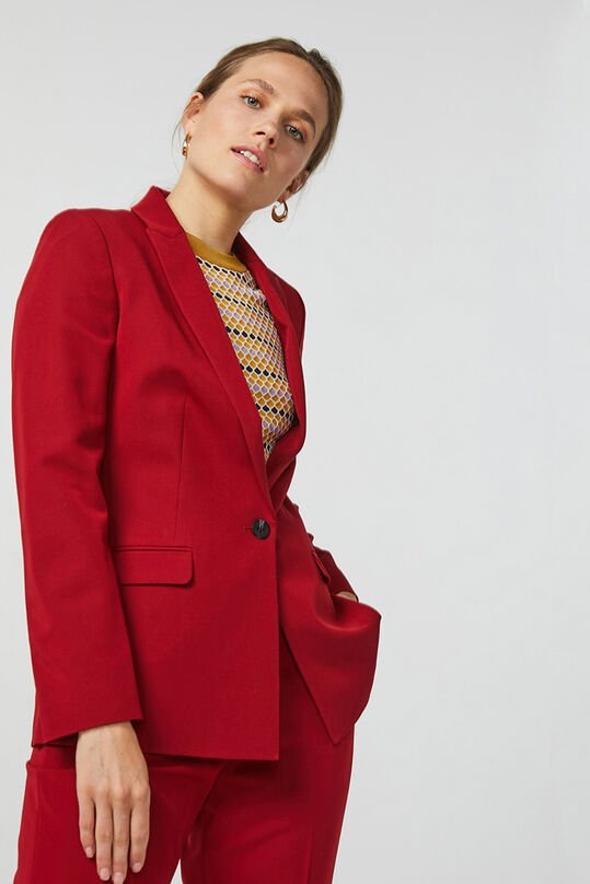 Dames regular fit blazer Bordeauxrood
