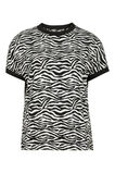 Dames print top, Zwart