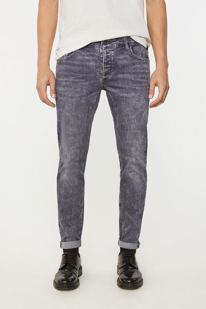Heren skinny jeans met superstretch Grijs