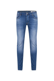 Heren skinny fit comfort stretch jeans_Heren skinny fit comfort stretch jeans, Blauw