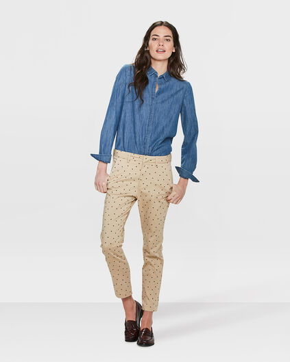 DAMES SLIM FIT HIGH STRETCH CROPPPED CHINO Beige