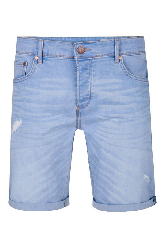 Heren regular fit short Pastelblauw