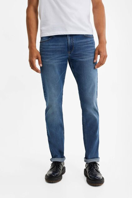 Heren relaxed super stretch jeans Blauw