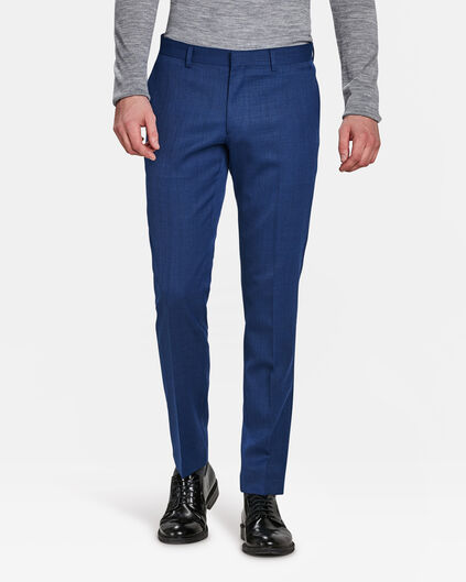 HEREN SLIM FIT PANTALON BANDON Blauw