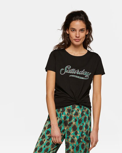 Dames saturday T-shirt Zwart
