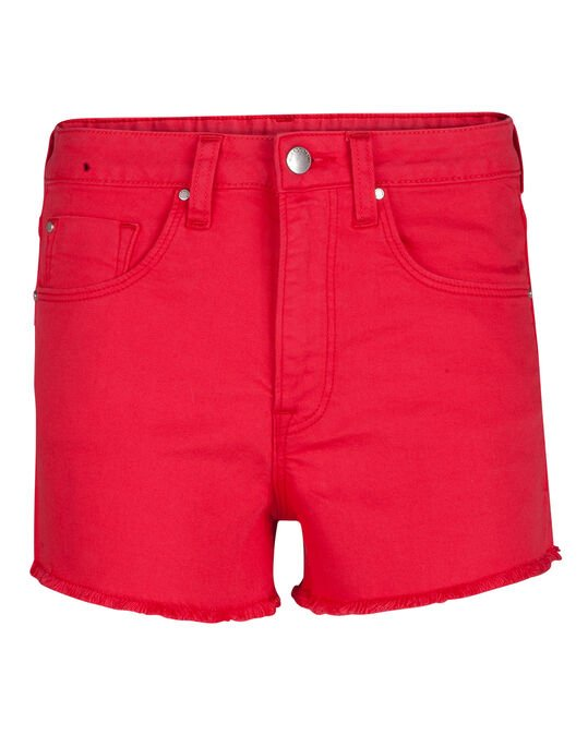 DAMES HIGH RISE SHORT Rood