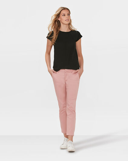 DAMES SLIM CROPPED CHINO Oudroze
