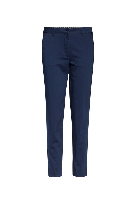 DAMES SLIM FIT HIGH STRETCH CROPPED CHINO Donkerblauw