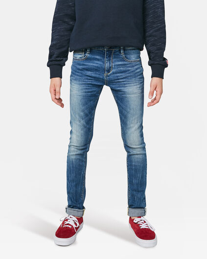 Jongens Ultra Skinny super stretch Jeans Blauw