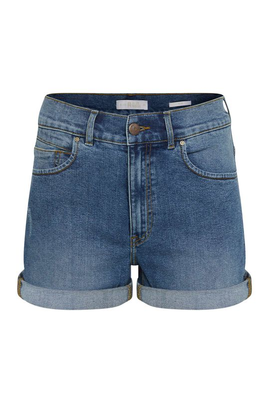 Dames high waist short in mom fit Donkerblauw