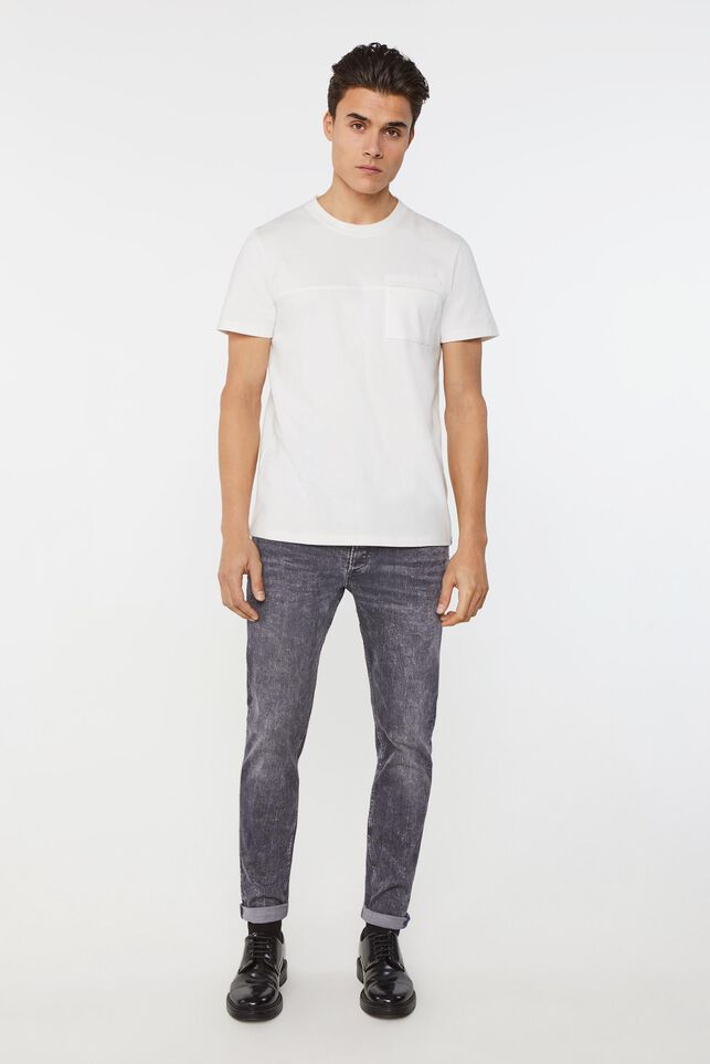 Heren skinny fit super stretch jeans Grijs