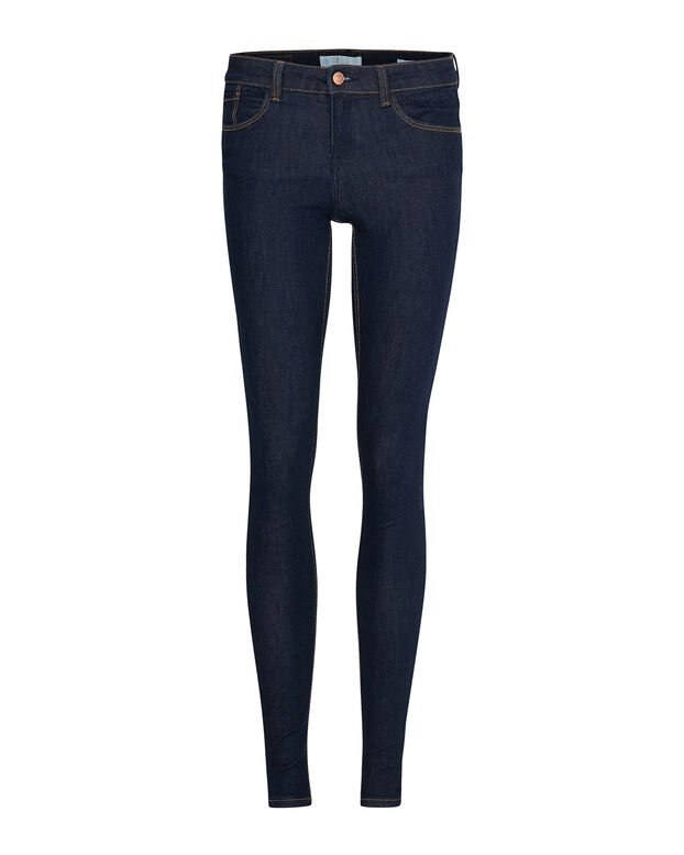DAMES MID RISE SUPER SKINNY HIGH STRETCH JEANS Blauw