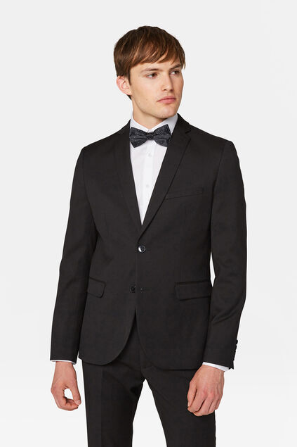 Heren slim fit blazer Dali Zwart