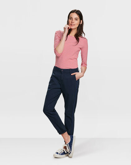 DAMES RELAXED FIT CHINO Marineblauw