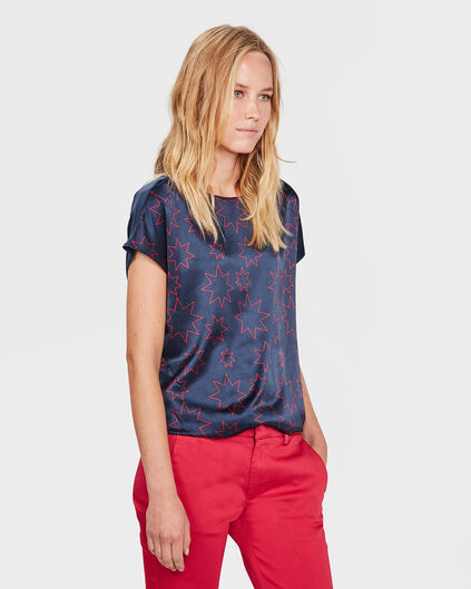 DAMES STAR TOP Donkerblauw