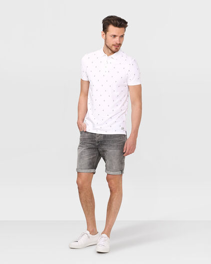 HEREN REGULAR STRAIGHT DENIM SHORT Grijs