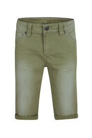 Jongens denim short_Jongens denim short, Lichtgroen