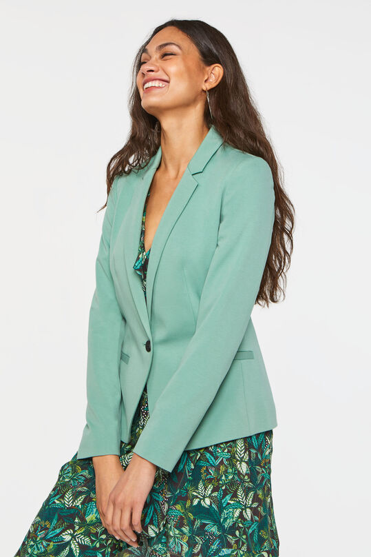 Dames regular fit blazer Groen