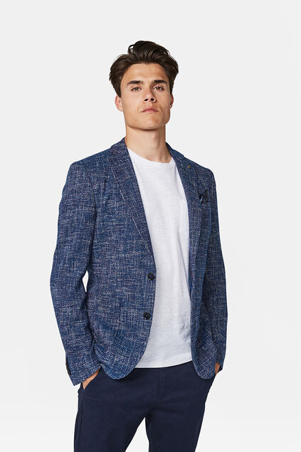 Heren Slim fit blazer Marineblauw