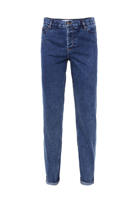 Dames high rise straight leg jeans Donkerblauw