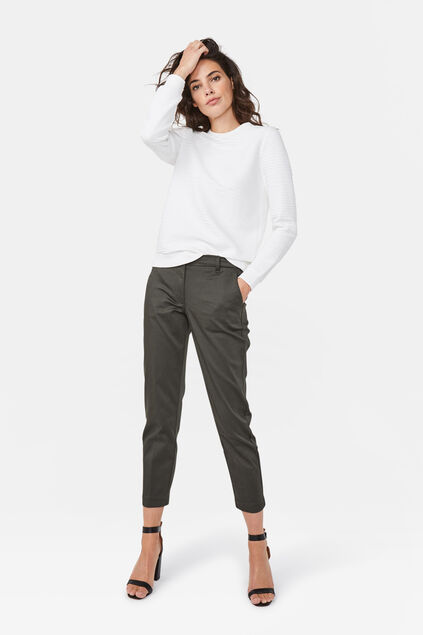 Dames regular fit chino Legergroen