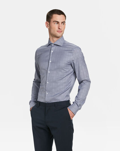 HEREN SLIM FIT TRAVELLER OVERHEMD Blauw