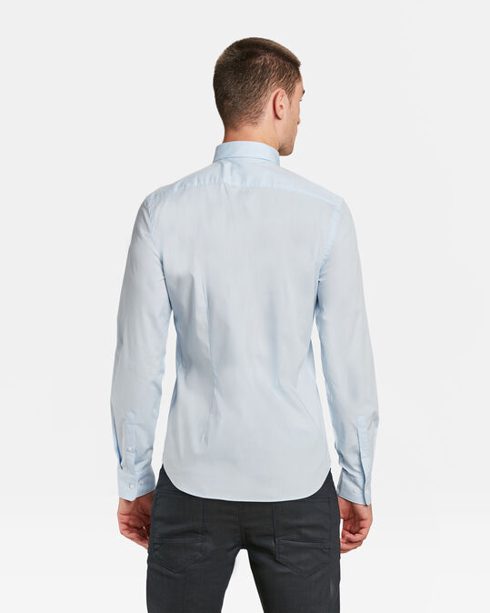 Heren slim fit stretch overhemd Pastelblauw