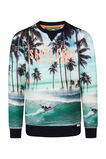 Jongens Santa Cruz sweater, Turkoois