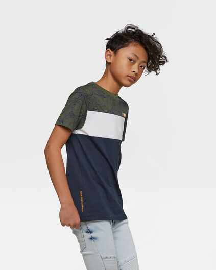 Jongens colourblock T-shirt Blauw