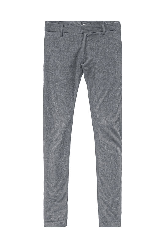 Heren slim tapered gemêleerde chino Grijs