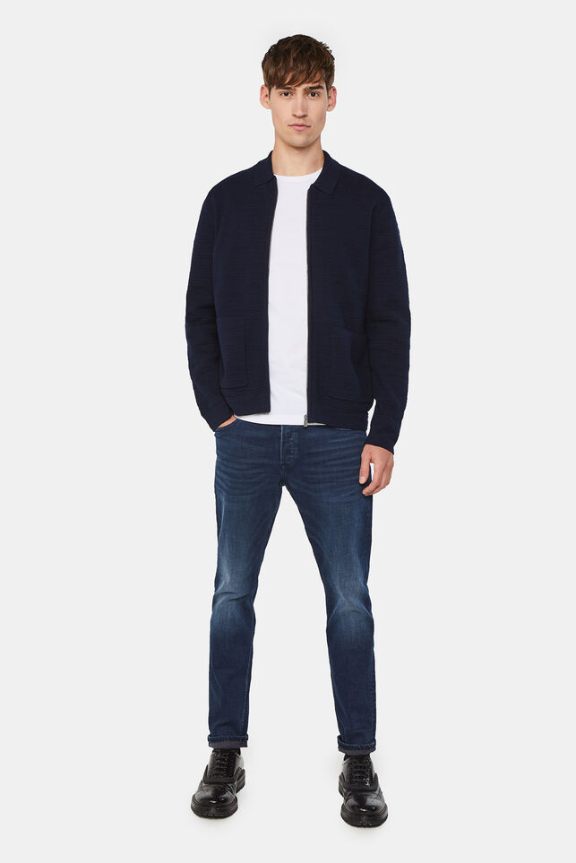 Heren skinny fit jeans met superstretch Donkerblauw