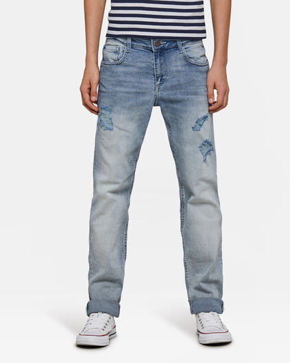 Jongens Regular Fit super stretch jeans Blauw