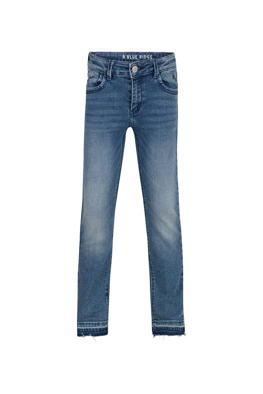 Meisjes regular fit stretch jeans Donkerblauw