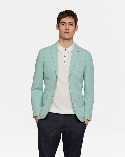 Heren slim fit blazer Stanford Mintgroen