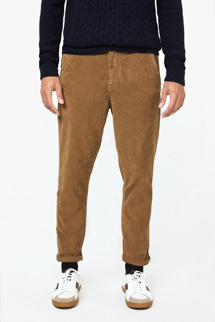 Heren loose fit chino corduroy Beige