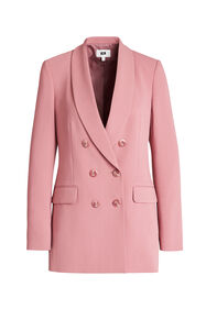 Dames regular fit double breasted blazer_Dames regular fit double breasted blazer, Oudroze