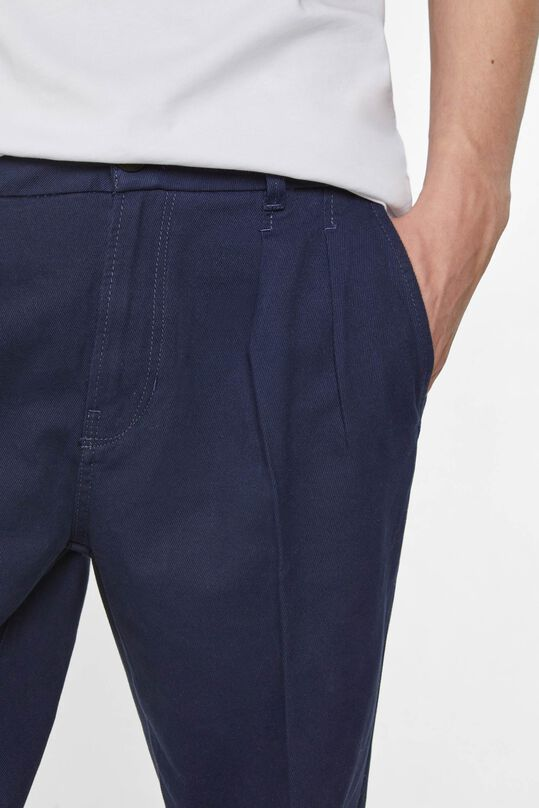 Heren cropped chino Donkerblauw
